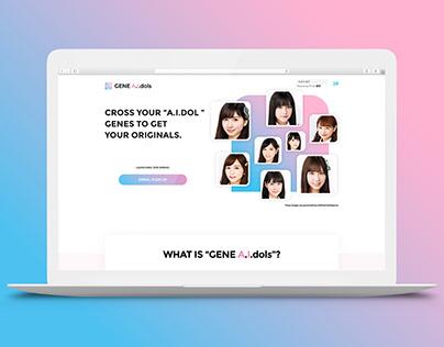 GENE A.I.dols / Landing Page & Logo Design