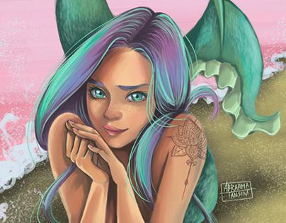 Fantasy Artwork. Mermaid.
