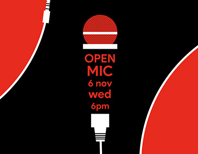 Open MIc 3x1 Poster