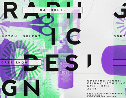Solent graphic design degree show poster