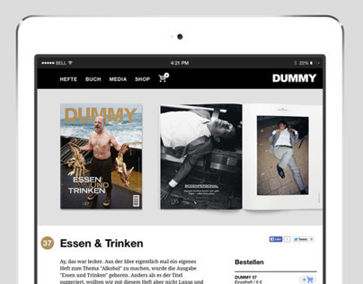 Website DUMMY Magazine