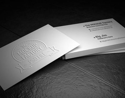 Business Card MockUp on Graphic River