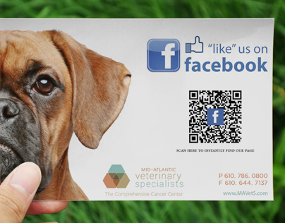 """""""Like"""" us card for Mid-Atlantic Veterinary Specialists"""