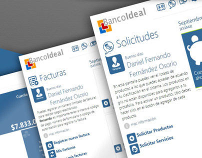 App Windows 8 BANCO IDEAL