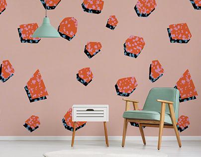 Metheorites wallpaper print design