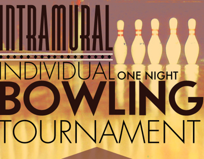 Intramural Bowling Poster