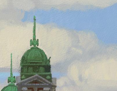 Ellis Island Clouds