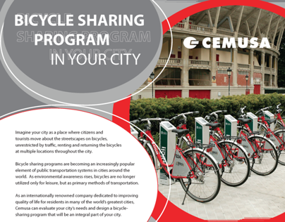 Cemusa Bicycle Sharing Program Booklet