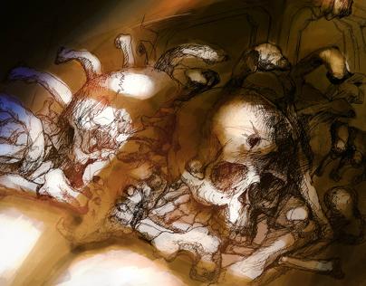 "a cover book call ""el saco de huesos"""