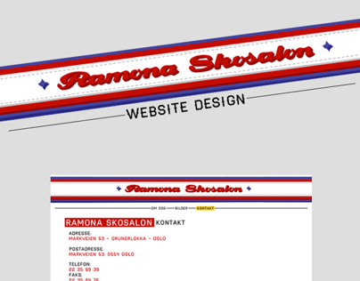 Ramona Skosalon l Website Design