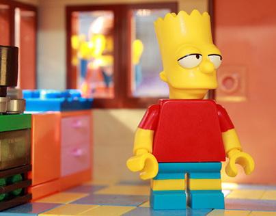 Lego The Simpsons meet Emmet