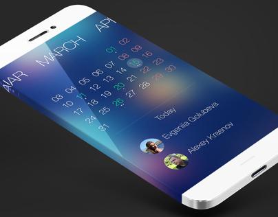 Calendar App iOS8   Redesign