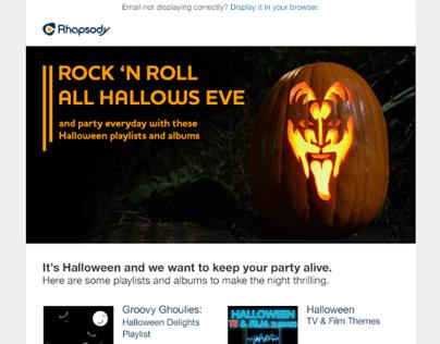 Rhapsody Halloween Email