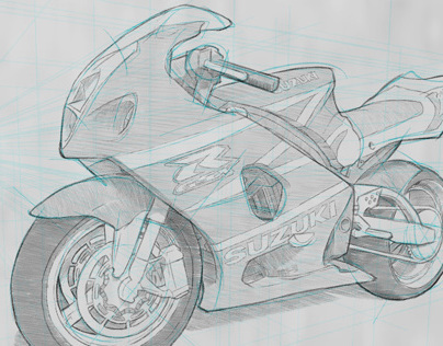 Motorbike Drawing Techniques
