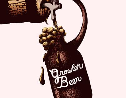 Growler Beer Editorial Illustration