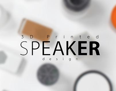 3D printed bluetooth speaker design