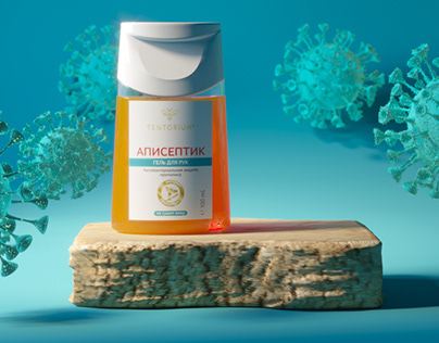 3D animation for antiseptic