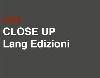 2008 CLOSE UP Lang edizioni