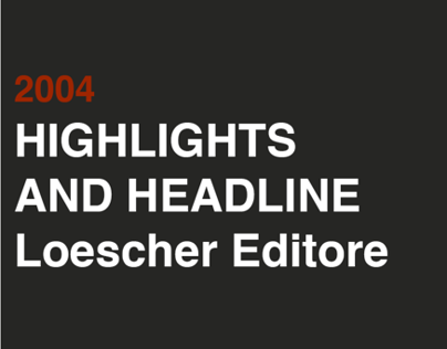 2004 HIGHLIGHTS ANDE HEADLINE Loescher editore