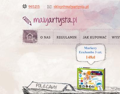 MalyArtysta - e-shop for kids