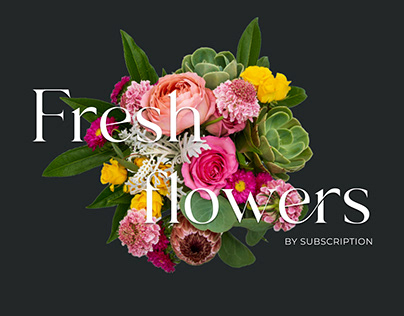 Website flowers by subscription, Ecommerce UX/UI