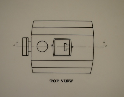 Marking Gauge Orthographic Drawing
