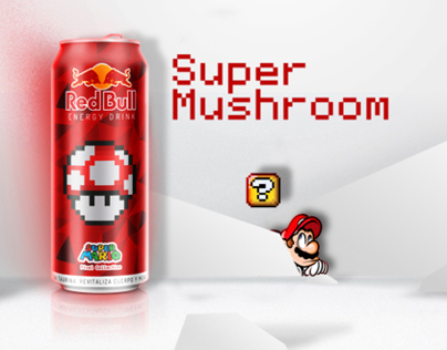 "Super Mario Bros ""Pixel Collection"" / Red Bull Sponsor"