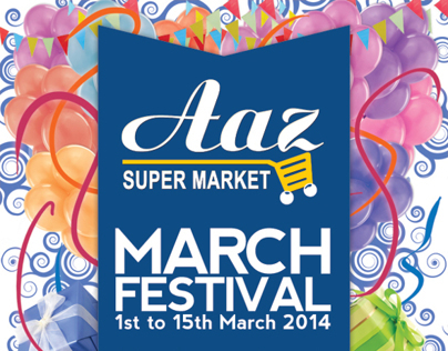 Flyer Design for Aaz Super Market - March Festival