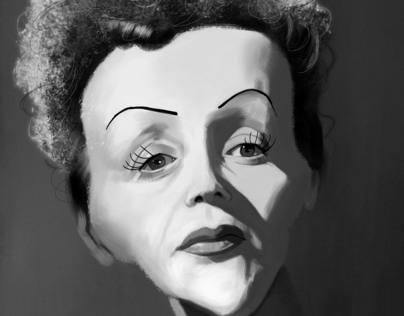Edith Piaf Caricature