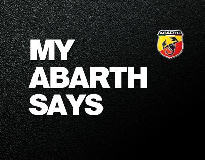 My Abarth Says
