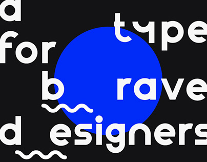 An experimental variable font for brave designers