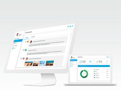 Admin Panel UI Kit. Interactive Prototype