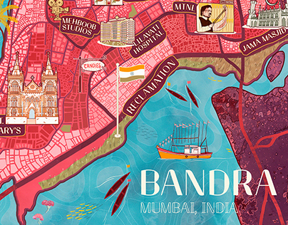 The City Story - Map of Bandra