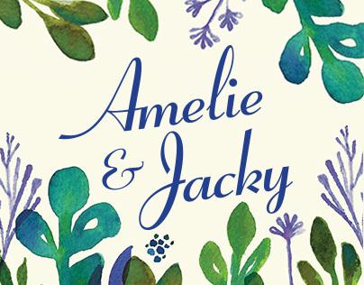 A&J Wedding invitation
