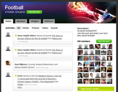 Summary website preview KNVB (Dutch Soccer Association)