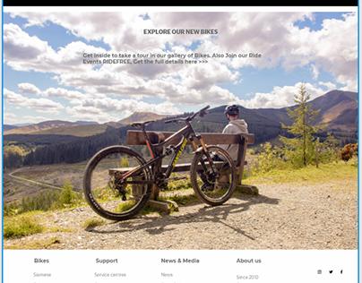 Web Mockup for Roar Bikes