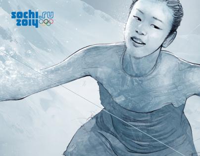 2014 Sochi Winter Olympic Title Movie(SBS) Artwork