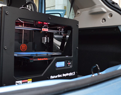 A 3D printer in an Electric car?