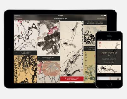 Arcimboldo auction catalogue / iOS app