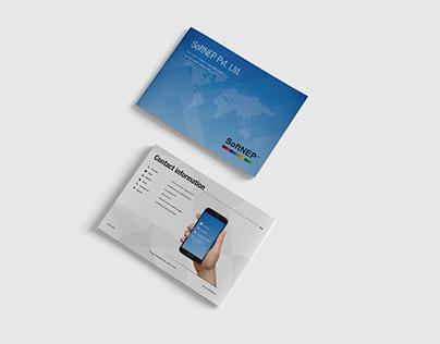 Brochure for asoftware development company