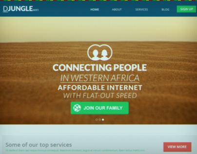DJUNGLE - Web design