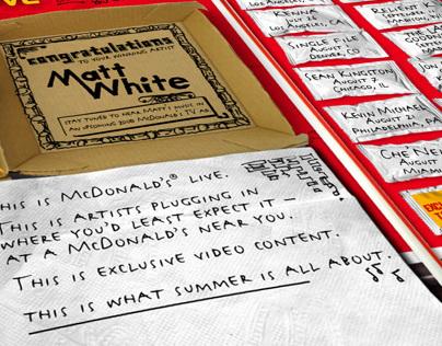 McDonald's Live Tour Webpage