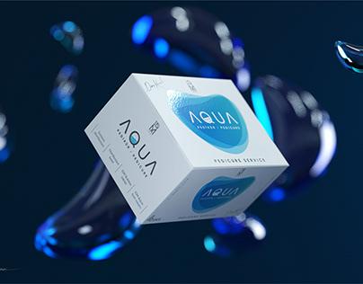 """""""Aqua Pedicure Kit"""" logo and packaging design"""