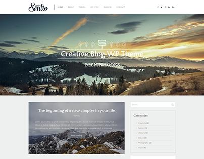Sentio – free creative blog WordPress theme