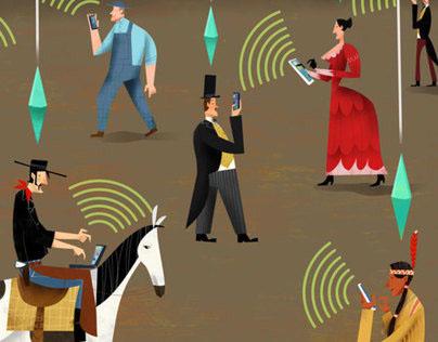 Social Media & the Law | editorial illustration