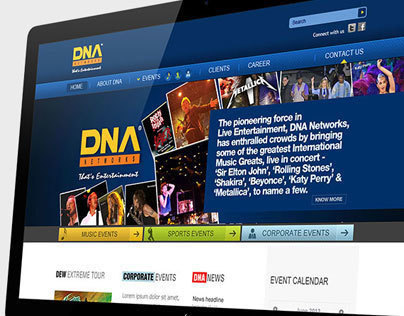 DNA NETWORKS – WEBSITE DESIGN