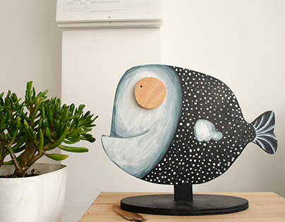 Wooden illustrations for home decor