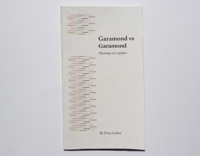 GARAMOND VS GARAMOND (Édition)