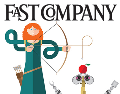 Inside Pixar - illustrations for Fast Company