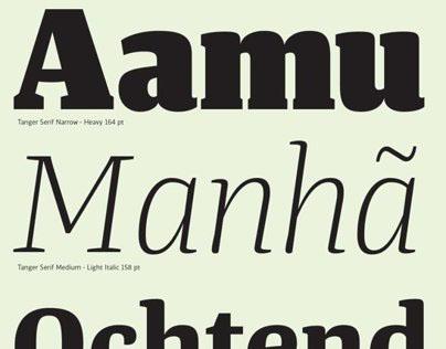 Tanger Serif Type Family